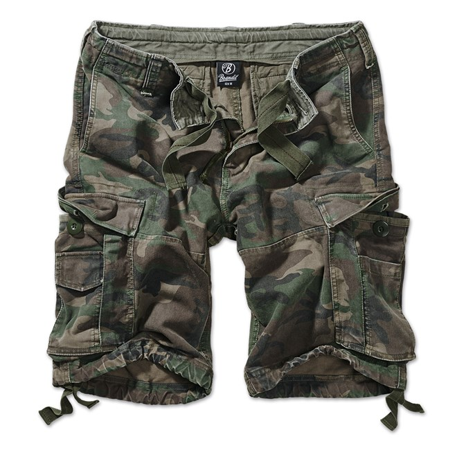 Brandit Kalhoty krátké Vintage Classic Shorts woodland 7XL