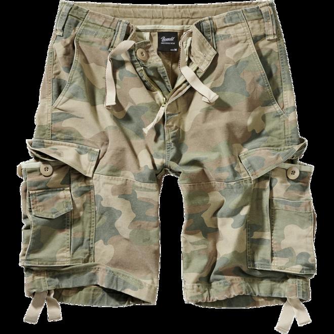 Brandit Kalhoty krátké Vintage Classic Shorts woodland světlý 4XL