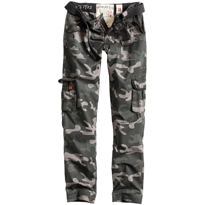 Surplus Kalhoty Ladies Premium Trousers Slimmy blackcamo 34