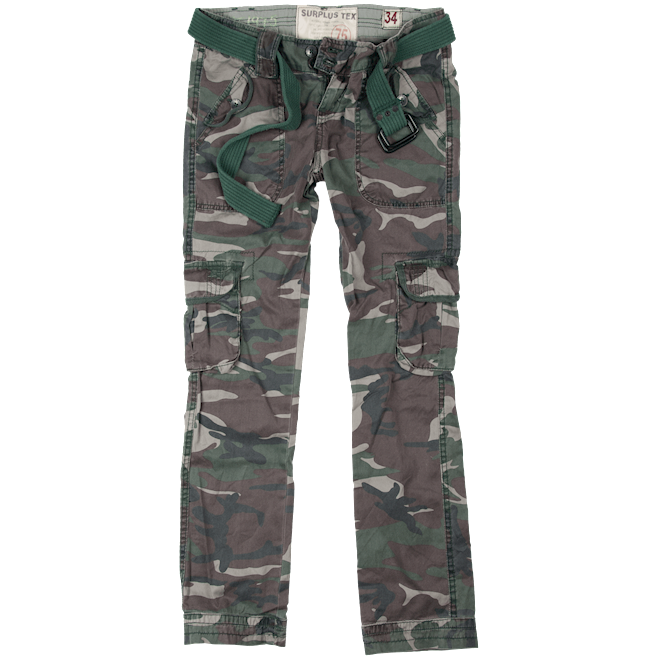 Surplus Kalhoty Ladies Premium Trousers Slimmy woodland oprané 34