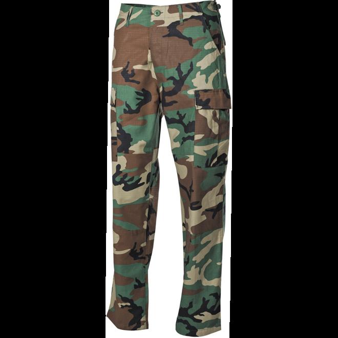 Kalhoty BDU-RipStop woodland L