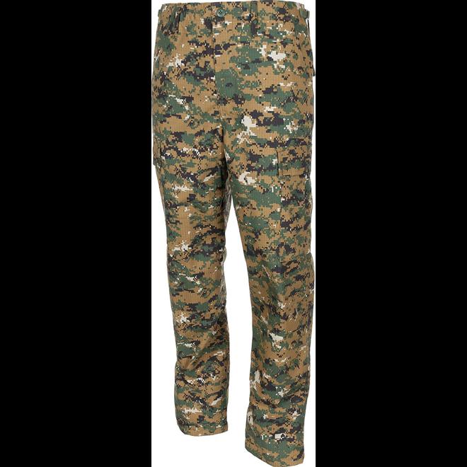 Kalhoty BDU-RipStop woodland digital L