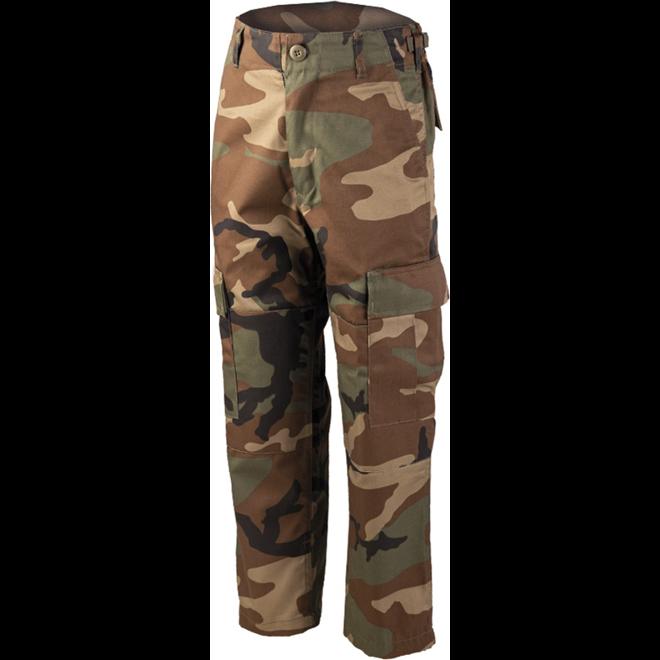 Kalhoty dětské BDU woodland L [152]