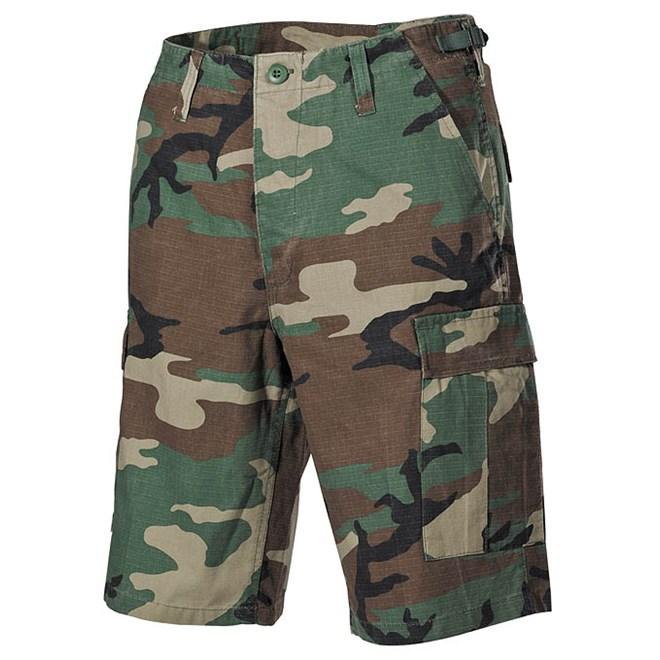Kalhoty krátké BDU RipStop woodland opraná M
