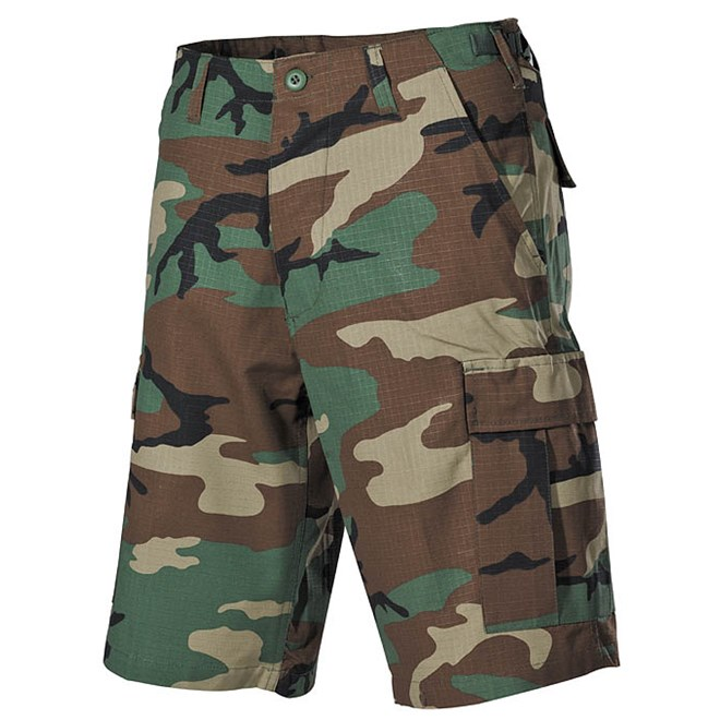 Kalhoty krátké BDU RipStop woodland XL