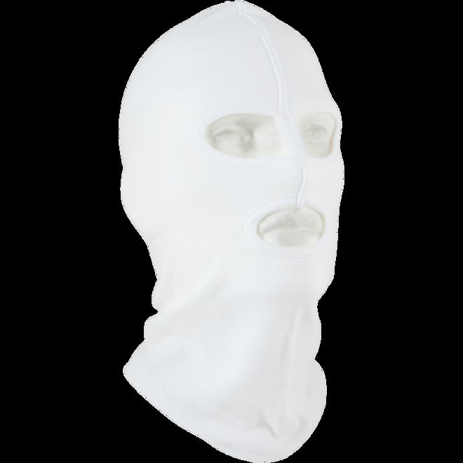 Kukla policejní P2 oči/dělicí pásek/ústa bílá