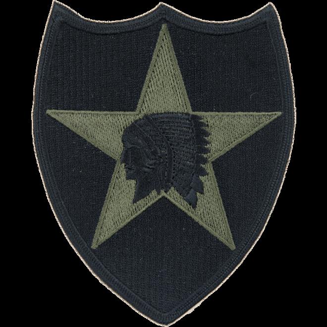 Nášivka: Divize pěší 2. (indián) (2.sv.-souč.) černá | olivová
