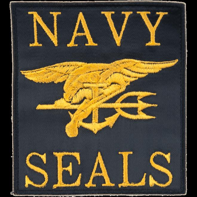 Levně Nášivka: NAVY SEALS s nápisem černá | žlutá