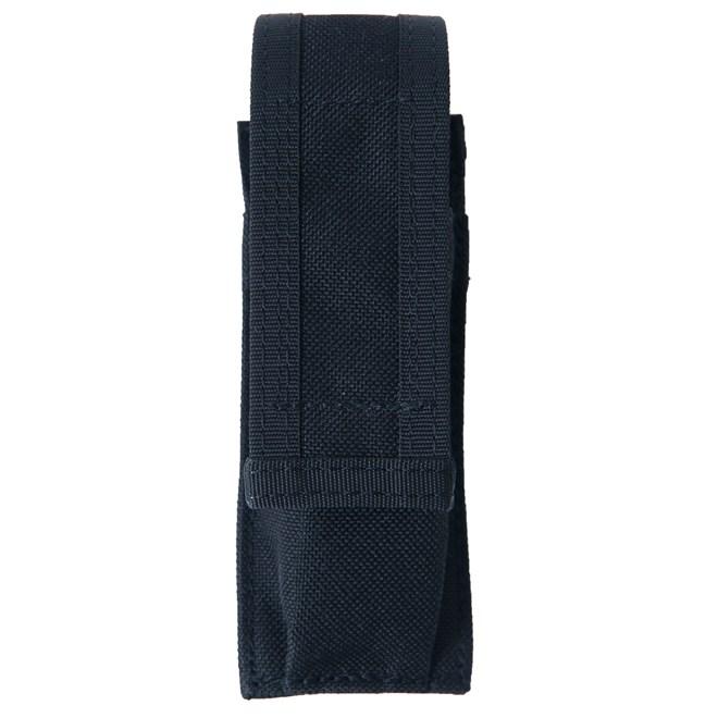 Pouzdro na 1 zásobník pistole na opasek s dl. chlopní černé