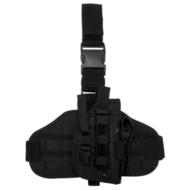 Pouzdro na zbraň - stehenní MOLLE černé