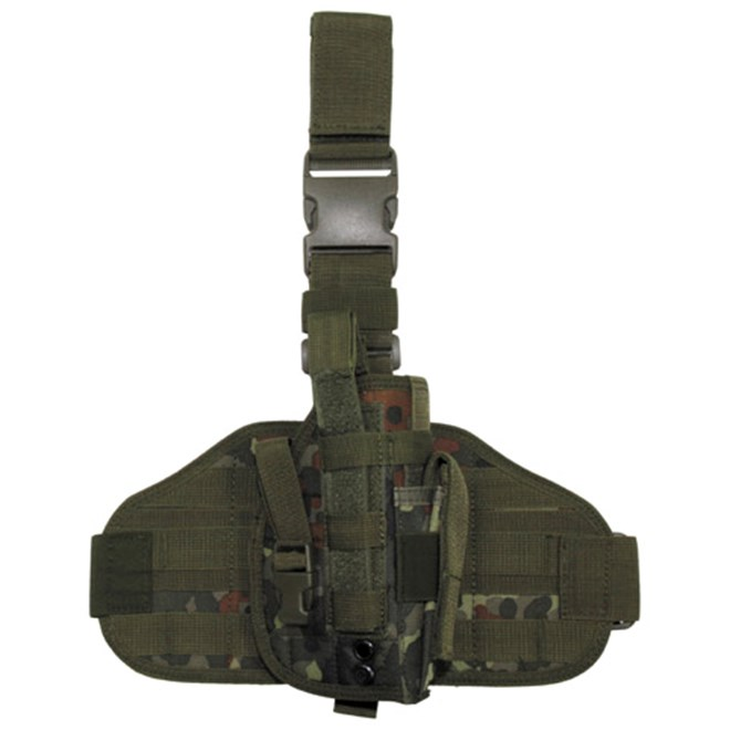 Pouzdro na zbraň - stehenní MOLLE flecktarn