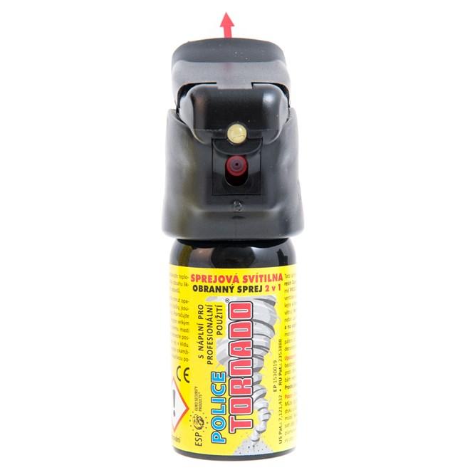 Sprej obranný pepřový TORNADO 40 ml (sprej se svítilnou)