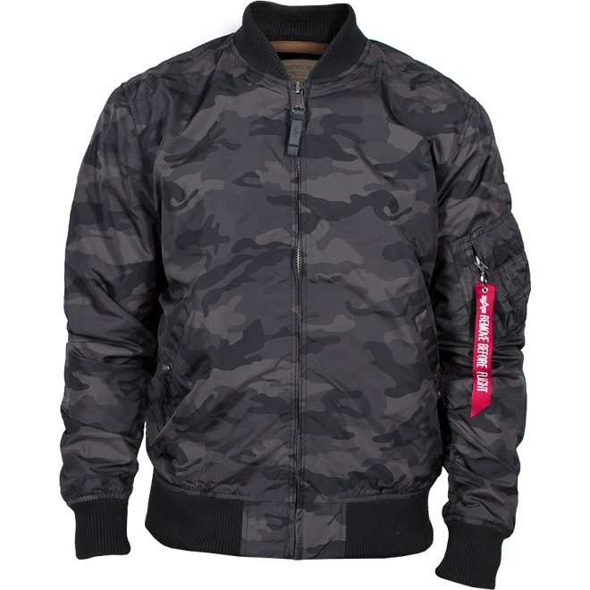 Alpha Industries Bunda  MA-1 TT black camo 3XL