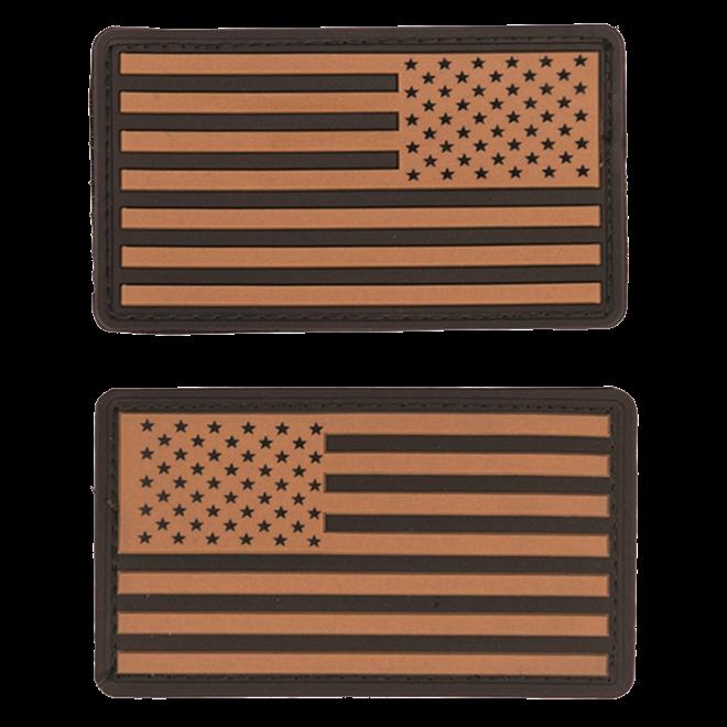 Nášivka gumová 3D: Vlajka USA [sada] béžová   černá