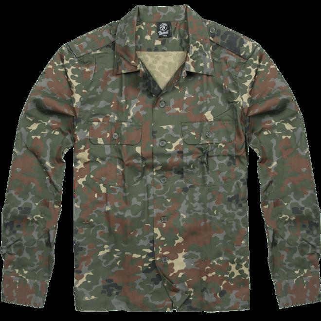 Levně Brandit Košile US Hemd 1/1 flecktarn 4XL