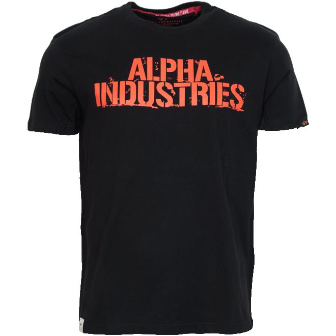 Levně Alpha Industries Tričko Blurred T černé M
