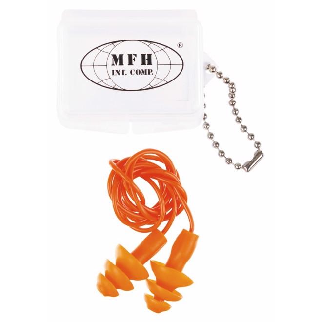 Chrániče sluchu zátkové se šňůrkou oranžová