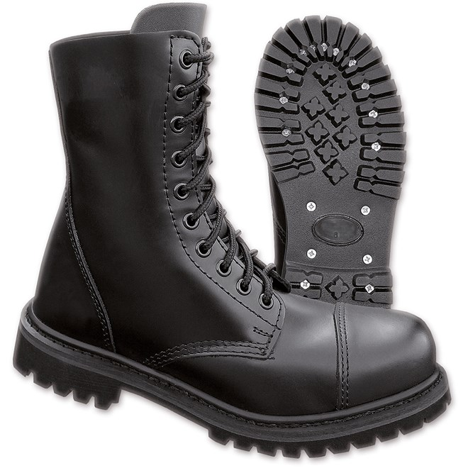 Boty Phantom Boots 10 dírkové gradiátor Brandit černé kožené 50a9b6160e