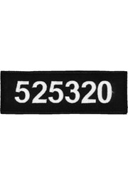 Patch: POLICE - service number