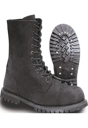 c071bea5b0f Boty Phantom Boots 10 dírkové gradiátor Brandit černé kožené