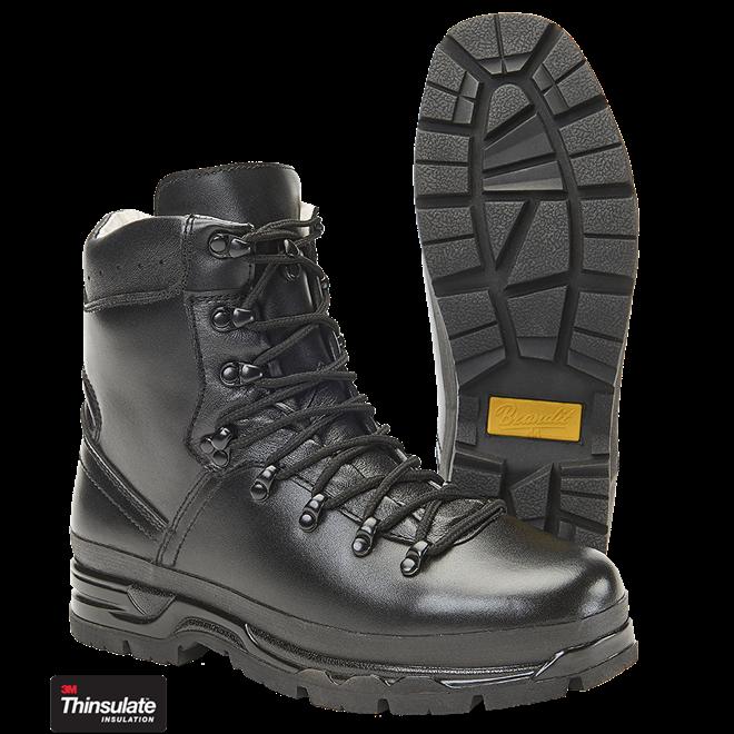 e0fdacef944 Horské boty kožené černé BW Bergshuh německé armádní