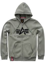 Mikina Alpha Basic Zip Hoody