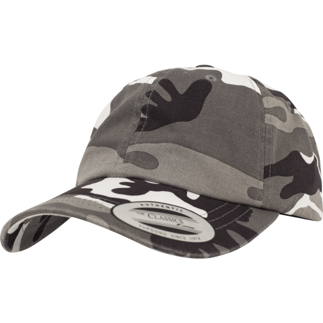Čepice Baseball Cap Low Profile Camo Washed